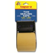 Carton Sealing Tape Tan - with Dispenser