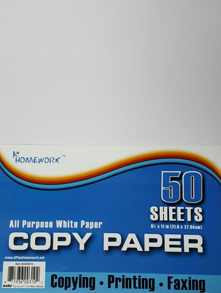 ''Copy Paper 50 Sheets 8.5 x 11'''' (1392736)''