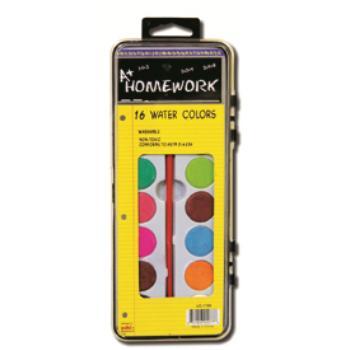 Water Color PAINT Set - 16 asst.colors+brush (92782)