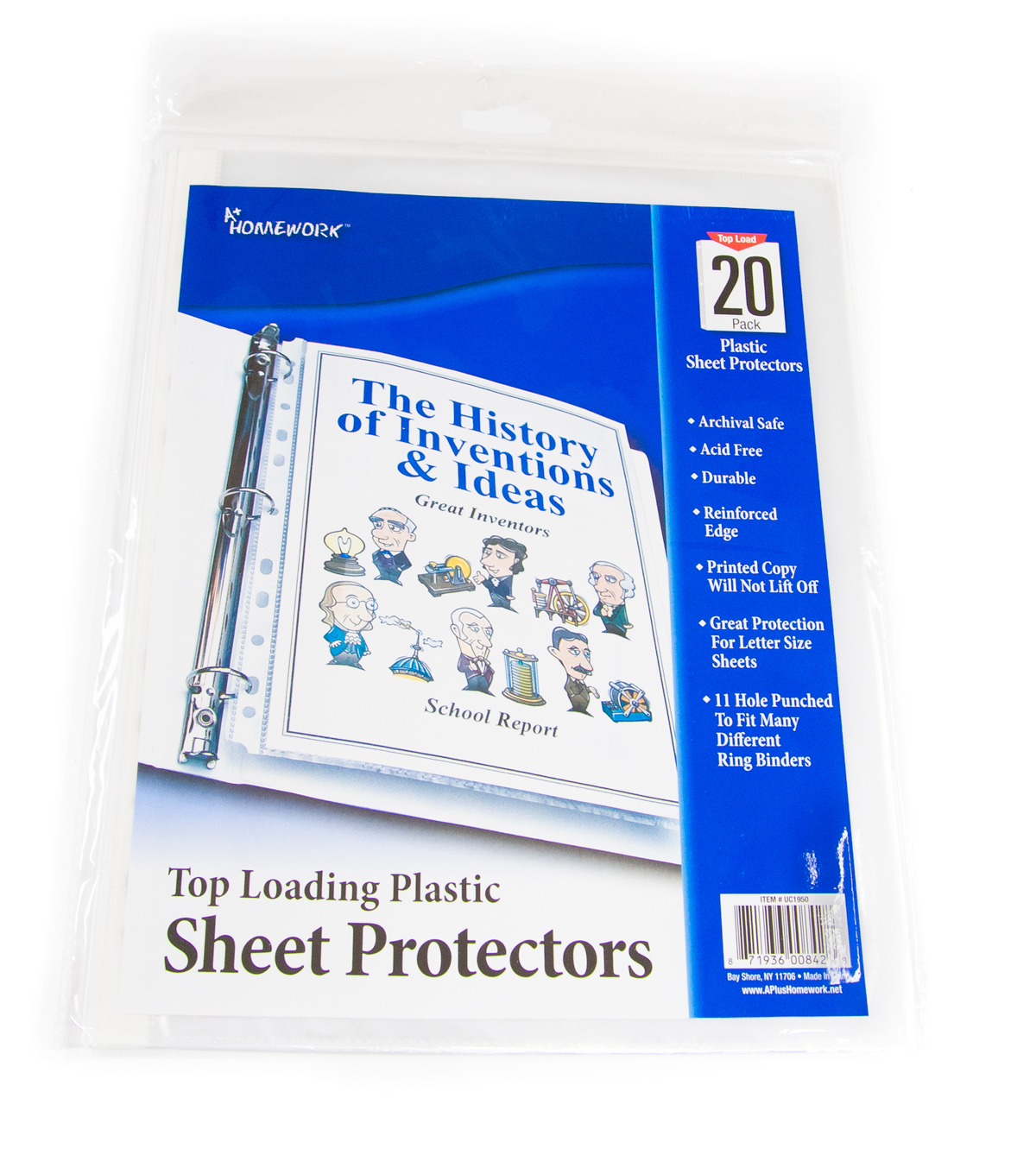 ''Clear Sheet Protectors- Top Loading 8.5'''' x 12'''' [1076456]''