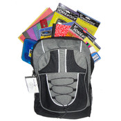 "Designer Marc Gold Pre Filled 17"" Backpack For Back to School Drives"