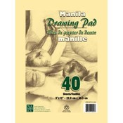 Manila Drawing Tablet - 9&quot; X 12&quot; - 40 sheets