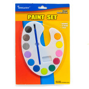 Water Color Paint Set - 12 asst.colors+brush