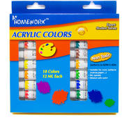 Acrylic Paint Set - 18 colors