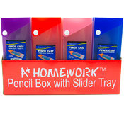 Pencil Box - Slider open with Button Closure