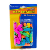 Cap Erasers(Pencil) - assorted colors - 50 count Wholesale Bulk