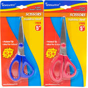 "School 5"" Pointed Tip Scissor- Asst. Colors"