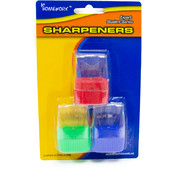 Pencil Sharpeners - 3 pack - Cone Shaped Top Wholesale Bulk