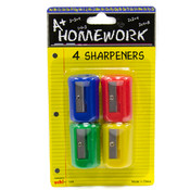 Pencil Sharpeners - 4 pack Wholesale Bulk