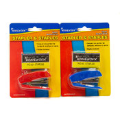 Mini-Stapler  + 500 Staples - assorted colors