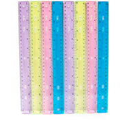 "Plastic Rulers - 12"" - assorted colors boxed"