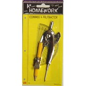 Compass &amp;amp; Protractor Combo 2 pack