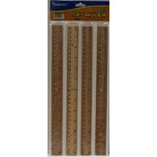 Wood Rulers - 12&quot; - 4 pack