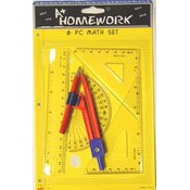 Math Set - 6 assorted math tools Wholesale Bulk
