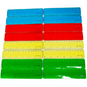 Plastic Rulers- Assorted Colors- Boxed