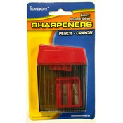 Sharpener Pencil/Crayon - 2 pack Wholesale Bulk