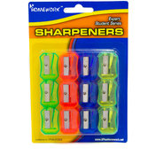 Pencil Sharpeners - assorted colors - 12 pack