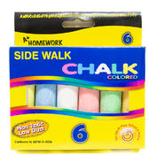 Assorted Colored Jumbo Chalk - 6 pack