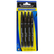 Permanent Markers Black - 4 pk - Pen Tip