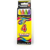 Crayons - 4 Pack - Assorted Colors