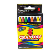 Crayons  assorted colors - 8 count boxed.