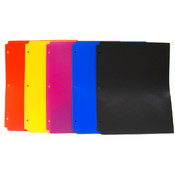 "Plastic Two Pocket Folders - 8.5"" x 11"" assorted colors"