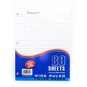 Filler Paper Wide Ruled 80 Sheets