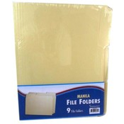 Manila File Folders - 1/3 cut - 9 count Wholesale Bulk