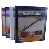 Binder - View front pocket - 3-1.5' Rings Asst.Col Wholesale Bulk