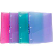 "Flex Binder - Glitter colors- 3 - 1"" Rings"