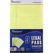 "Junior Legal Pad - Yellow Paper - 5""x8"" -3 pk"