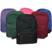 "Back Pack - 15"" - Assorted Colors"
