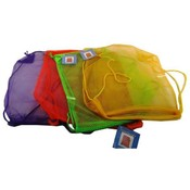 "Draw String 17"" Mesh Bag - Assorted Colors"