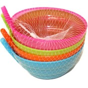 4PK BOWL W STRAW SET NET BAG