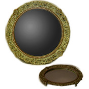 Vanity Mirror -White/Gold