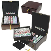 750 HIGH ROLLER Poker Chip Set w/Polished Laquer F