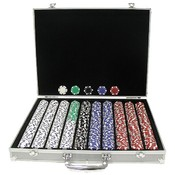 1000 11.5 Gram DICE-STRIPED Chips in ALUM Case