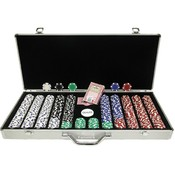 650 11.5 Gram Dice-Striped Poker Chips in Aluminum