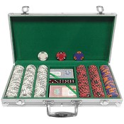 300 Chip Tri-Color Triple Crown Set w/Aluminum Cas