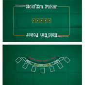 Blackjack and TX Holdem 2 Sided Layout 36 x 72 inc