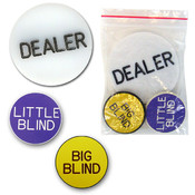 Poker Button Set - Dealer, Big & Little Blinds - i