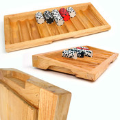 Oak Black Jack Table Tray - Holds 500 Chips Wholesale Bulk