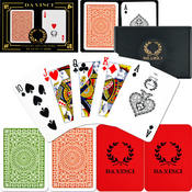 Davinci Da Vinci Casino Club 100% Plastic Cards- Poker Size Regular Index Wholesale Bulk