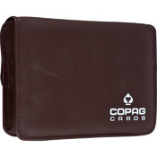 CopagT High Quality Leather Two Deck Card Case