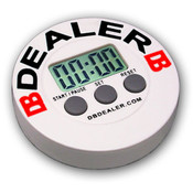 Dealer Button with Built In Digital Timer