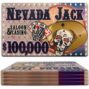 Nevada Jacks Ceramic Poker Chip Plaque - $100000 Wholesale Bulk