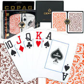 Copag Poker Size Cards Jumbo Index - Orange and Brown Setup Wholesale Bulk