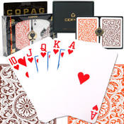 Copag Poker Size Cards Regular Index - Orange and Brown Setup Wholesale Bulk