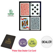 CopagT Poker Size PLASTIC Playing Cards & Dealer K