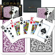 Copag Poker Size Cards Jumbo Index Purple/Grey Setup Wholesale Bulk